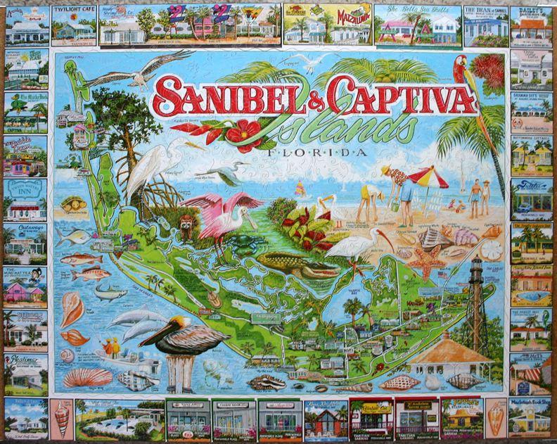 Custom Puzzle Craft Wooden Jigsaw Puzzle 569 Sanibel Captiva