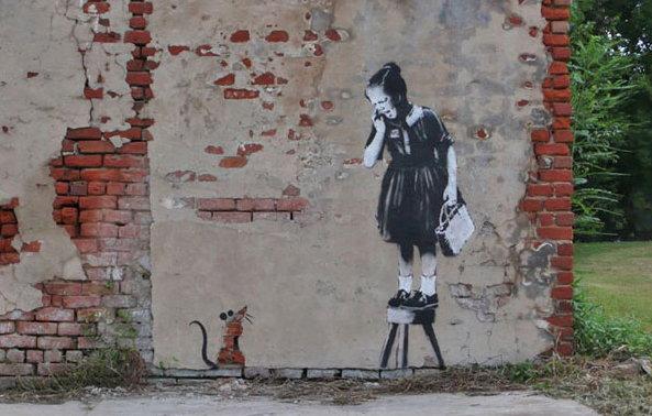 Graffiti street art Banksy New Orleans Abraham Lincoln